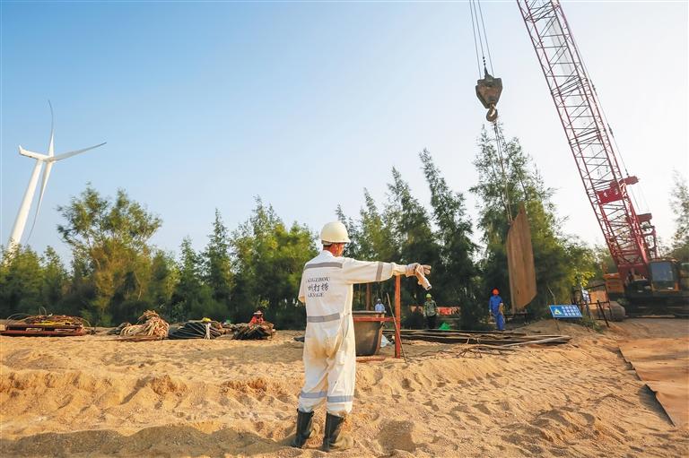 东方污水排放项目完成工程进度98%